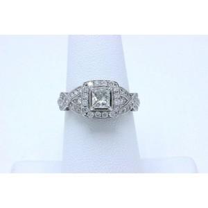 Neil Lane Diamond Engagement Ring Princess 1.38 tcw 14k White Gold