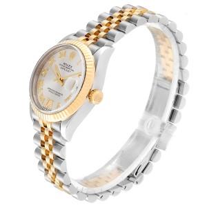Rolex Datejust Midsize Steel Yellow Gold Diamond Ladies Watch 278273 Box Card