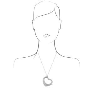 Tiffany & Co. Elsa Perretti Open Heart Necklace Platinum Diamond