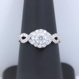 Neil Lane Diamond Engagement Ring Round 1.00 tcw 14k White Gold