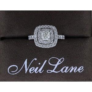 Neil Lane Diamond Engagement Ring Cushion 1 1/8 tcw 14k White Gold