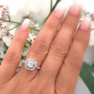 Neil Lane 14K White Gold Diamond Engagement Ring Size 6.5