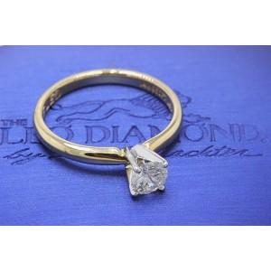 14K Yellow Gold Diamond Engagement Ring Size 6.75