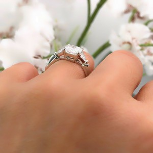 fbcce2e52 Tiffany & Co Platinum Diamond Engagement Ring 3 Stone Radiant Cut 3.03 tcw  D VS1