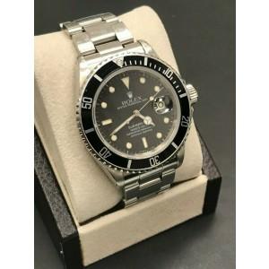 Rolex Submariner 16800 Black Dial Stainless Steel Original Polish