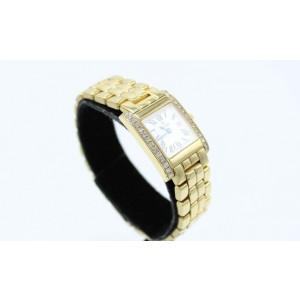 Concord LA TOUR Ladies Watch 14K Yellow Gold Diamond Bezel Box & Papers