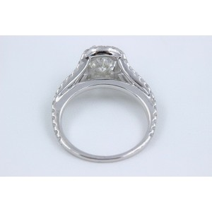 Cushion Halo Diamond Engagement Ring 1.55 tcw 14k White Gold
