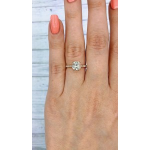 14k Rose Gold AGI Certified Engagement ring features 1.51ct TCW DIA