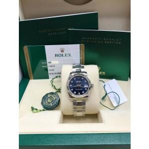 Rolex Datejust Midsize 31mm 178274 Diamond Dial Steel 18K Gold Box & Papers 2017