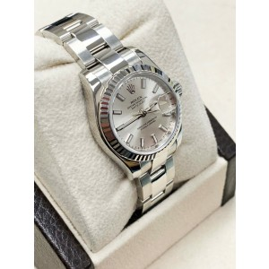Rolex Ladies Datejust Stainless Steel 179174 Silver Dial 2014 Box & Papers