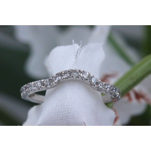 Neil Lane Diamond Wedding Band Ring 3/8 tcw 14k White Gold
