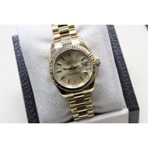 Rolex Ladies President DateJust 179178 New Style 18K Yellow Gold Box & Papers