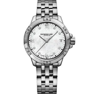 RAYMOND WEIL TANGO 5960-ST-00995 DIAMOND PEARL LADIES SWISS WATCH