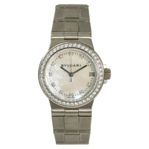 Bulgari Diagono LCVW29G White Gold 29mm Womens Watch