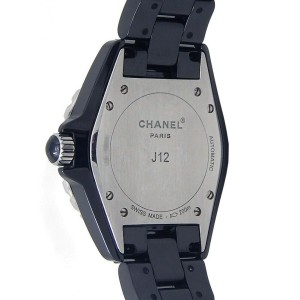 Chanel J12 Black Ceramic Ruby Markings Automatic Ladies Watch H1635