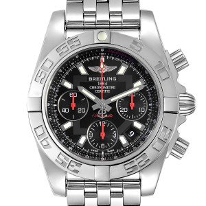 Breitling Chronomat Evolution 41mm Steel Mens Watch AB0140 Box Card