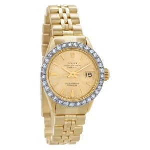 Rolex Datejust 6517 Gold 26.0mm Womens Watch