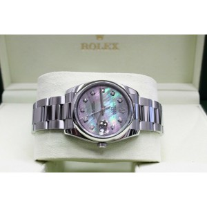 Rolex Date 115200 Mother of Pearl Diamond Dial Stainless Steel