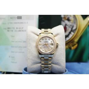 Rolex Ladies Datejust President 179138 MOP Diamond Dial & Bezel Box Paper 2004