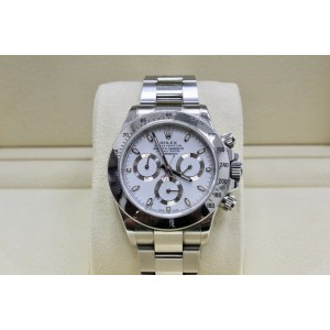 Rolex Daytona 116520 White Dial Stainless Steel