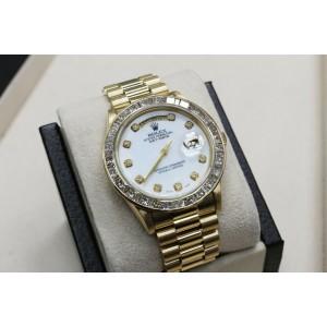 Rolex President Day Date 18038  MOP Diamond Dial & Bezel 18K Yellow Gold