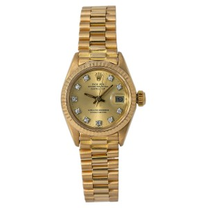 Rolex Datejust 6917 Gold 26mm Women Watch (Certified Authentic & Warranty)