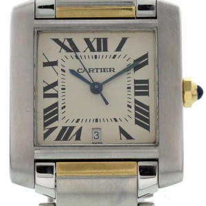Cartier Tank Francaise 2302 Two Tone  Watch (Certified Authentic & Warranty)