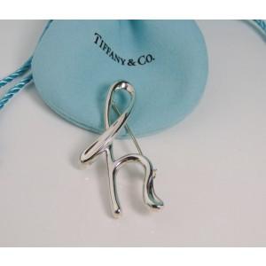 Tiffany & Co Peretti Alphabet Letter H Brooch Pin Sterling Silver c. 1983