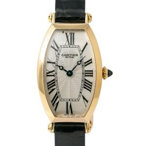 Cartier Tonneau 2667 Gold 22mm Womens Watch