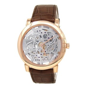 Harry Winston Midnight Skeleton 18k Rose Gold Automatic Men's Watch MIDAHM42RR01