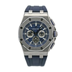 Mens' Audemars Piguet Royal Oak Offshore Chronograph/ Blue Dial 26480TI