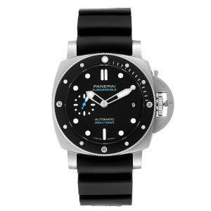Panerai Luminor Submersible 42mm Black Rubber Strap Mens Watch PAM00683