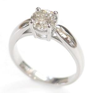 Tiffany & Co. Platinum & 1.21ct Diamond Engagement Ring Size 4.5