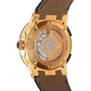 Ulysse Nardin Executive Dual Time 18k Rose Gold Automatic Men Watch 246-00-3/42