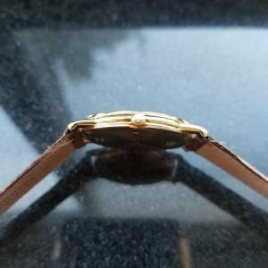 Men's Piaget 18K Solid Gold Midsize Dancer Quartz Dress Watch, c.1990s LV590TAN