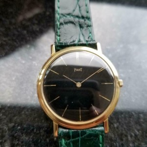 Midsize Piaget 18K Solid Gold Cal.9P Manual-Wind Dress Watch, c.1970s MS164GRN