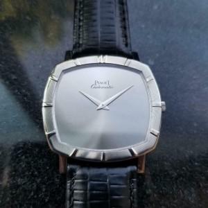 Men's Piaget 18k White Gold cal.12P1 Automatic Dress Watch c.1970s Swiss LV861