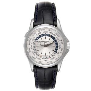 Patek Philippe World Time Complications White Gold Mens Watch 5130