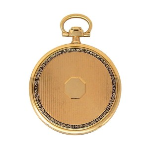 Longines Vintage 18k Yellow Gold Manual Silver Pocket Watch