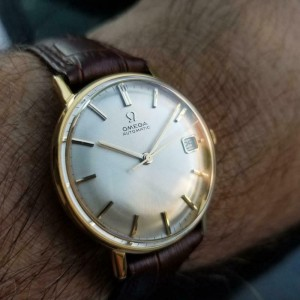 Men's Omega Gold-Capped cal.562 24J Automatic w/Date, c.1963 Swiss Vintage MX30