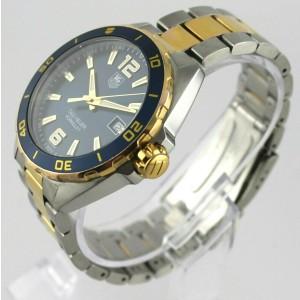 TAG HEUER FORMULA 1 WAZ1120.BB0879 DATE QUARTZ BLUE GOLD STEEL MENS LUXURY WATCH