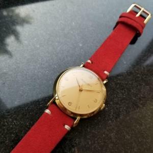 Men's IWC Schaffhausen 18K Gold cal.89 Manual-Wind Dress Watch c.1950s LV539RED