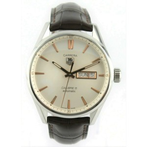 TAG HEUER CARRERA WAR201D.FC6291 MEN'S ROSE GOLD AUTOMATIC DAY DATE LUXURY WATCH