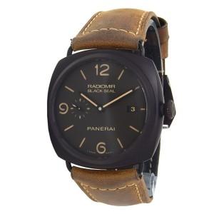 Panerai Radiomir Black Seal Ceramic Leather Automatic Black Men's Watch PAM00505