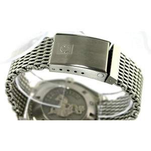 OMEGA SEAMASTER PLANET OCEAN XL 2208.50 AUTOMATIC CO-AXIAL MESH BRACELET WATCH