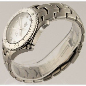 TAG HEUER MENS LINK  WJ1114.BA0570 MOTHER OF PEARL DIAMOND STEEL LUXURY WATCH