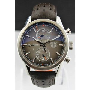TAG HEUER CARRERA CAR2112.FC6267 300SLR MEN AUTOMATIC BROWN LEATHER SWISS WATCH