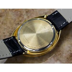 Bulova Mens 35mm Automatic Gold Plated Swiss 1960s Classic Vintage Watch J53