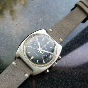 Men's Bucherer Stainless Vintage Chronograph 36mm Manual Wind, c.1970s LV357GRY