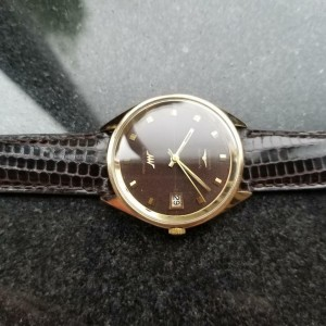 Longines 37mm Men's 18K Solid Gold Ultra Chron 7950 Automatic 1970s Swiss LV487